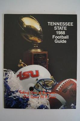 Vintage Football Media Press Guide Tennessee State University 1988