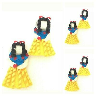 Handmade Girls Snow White Hair Bow Clips Accessories Sold In Pairs ( SALE )