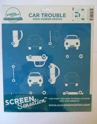Screen Sensation Mesh Screen Design - CAR TROUBLE