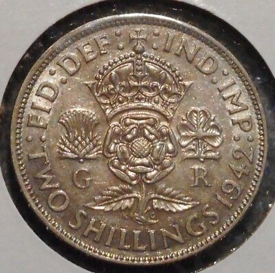 British Florin - 1942 - King George VI - $1 Unlimited Shipping -15