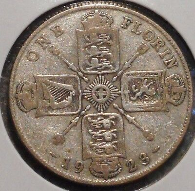 British Florin - 1923 - King George V - $1 Unlimited Shipping -08