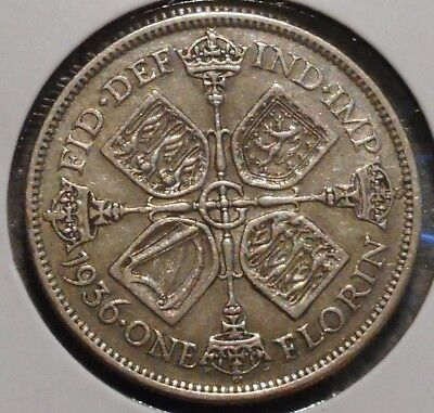 British Florin - 1936 - King George V - $1 Unlimited Shipping -11