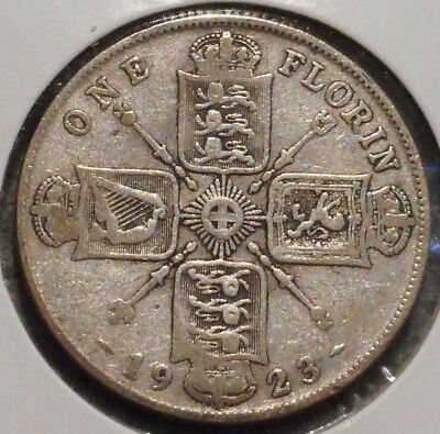British Florin - 1923 - King George V - $1 Unlimited Shipping -09