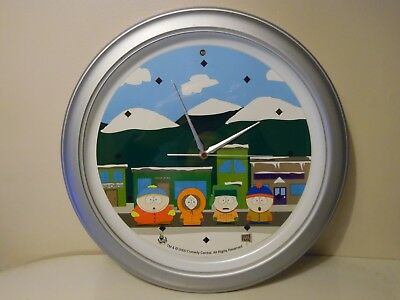 South Park Merchandise Talking Round Wall Clock Not Working Spares or Repair