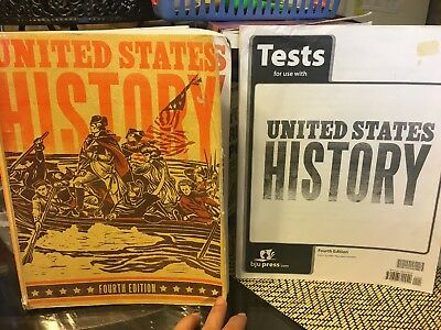 UNITED STATES HISTORY Student Book Tests Grade 11 4th Edition BJU Press Ve