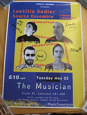 Laetitia Sadier Source Ensemble Signed Gig Poster Genuine In Person Stereolab