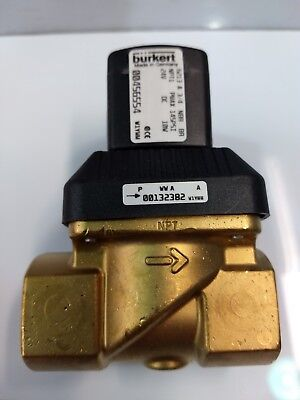 "Burkert Type 6213 solenoid 3/4"" Brass Housing Body 145 PSI 05945.100"