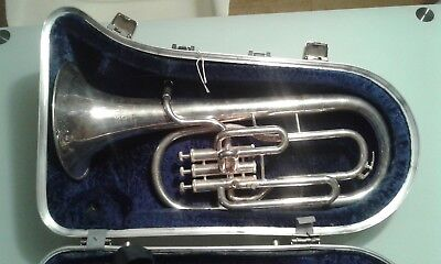 Boosey and hawkes tenor horn B&H 400 brass instrument trumpet etc hardcase
