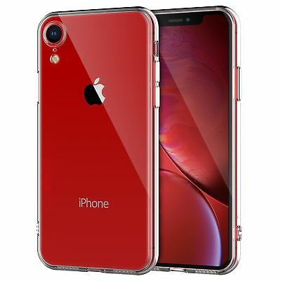 For iPhone XR Clear Transparent Case Shock Absorption TPU Soft Cover
