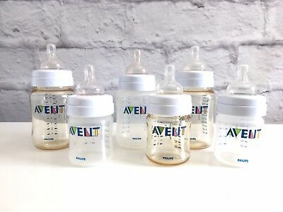 Avent Bottle Set (LOT 6: Includes 3 (4oz) 3 (9oz) BPA Free Plastic