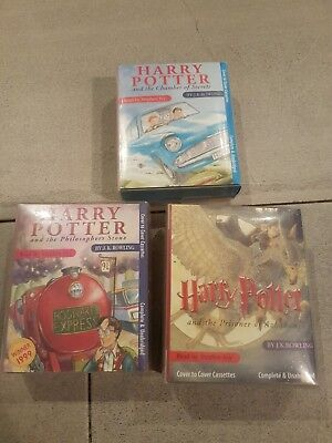 Harry Potter audio book cassettes: Chamber, Stone and Azkaban