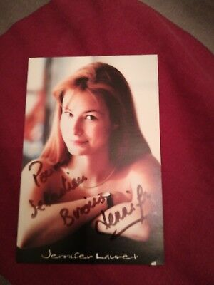 Dedicasse Photo Signé Jennifer Lauret Autographe Début Carrière Signed