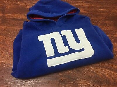 NEW YORK GIANTS Football NFL Pullover Blue Hoodie by Team Apparel Youth Size  2XL d67be08f1