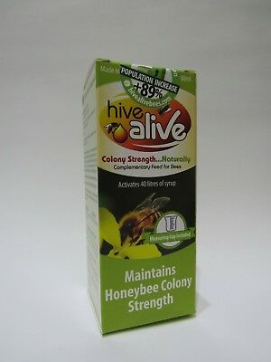 NEW - HIVE ALIVE SMALL 100ml COLONY STRENGTH ACTIVATES 40 L-SYRUP HONEYBEE BEE