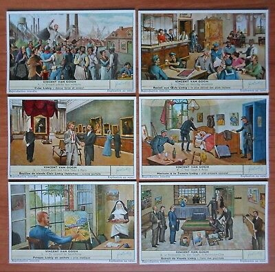 1959 set of 6 liebig trade cards S 1724 painter VAN GOGH french language