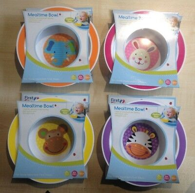 4x First Steps Jungle Pals Bowls or plates Food BPA Free Dishwasher Microwave,