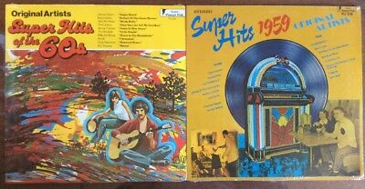 SEALED! Super Hits of the 60s / 1959  2xLP LOT - Gusto Records - Oldies / Rock