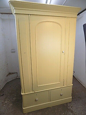 antique,victorian,painted,single door,wardrobe,linen press,drawers,breakdown,pot