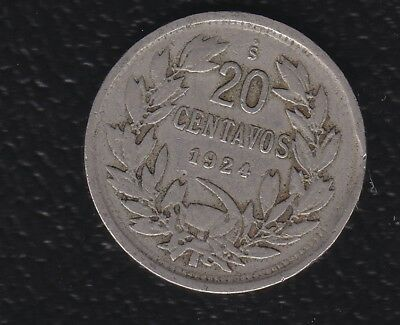 Chile 20 Cents 1924