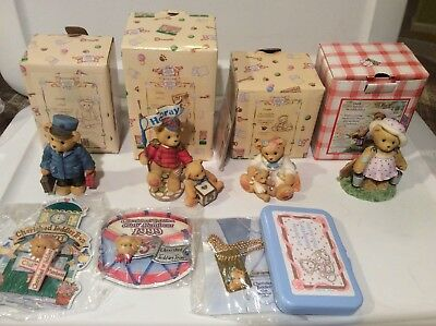 Cherished Teddies - Leah, Lloyd, Lanny, Darlene, 5 Block - Lot of 5 Membearship