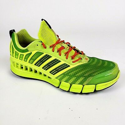 new products 1b953 47f27 ADIDAS CLIMACOOL REVENT G66538 Neon Green / Orange Men's Running Shoes Size  11