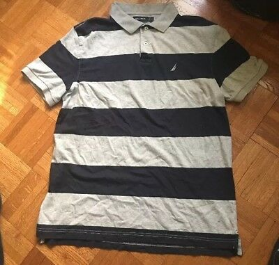 66064fcc7ad NAUTICA MENS POLO Rugby Shirt Size Large- Lot C75 - $6.99 | PicClick