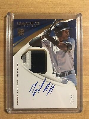 2018 Immaculate Yankees Miguel Andujar Rookie Jersey Auto RPA 21/99 RC SSP
