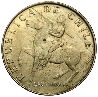 Chile 5 Escudos coin 1972 KM# 199 Araucanian Indian horse Copper-Nickel