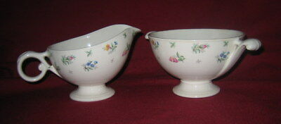 Harmony House ~ MONTICELLO ~ Cream Pitcher & Sugar Bowl (no lid) ~ Hall China