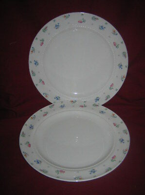Harmony House ~ MONTICELLO ~ 2 Dinner Plates Made in USA by Hall China ~ 1941-59