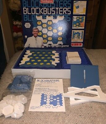 📺 Vintage Classic Blockbusters Board Game 1986 by Waddingtons | Complete✅ Retro