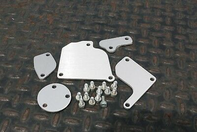 LRB Speed FC 13B S5 NA RX7 Aluminum Block Off Plates FC3S RX-7 with Hardware