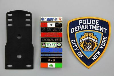 3-Bar Holder, Big Uniform Patch, 10 Commodation Bars US NY Police Costume