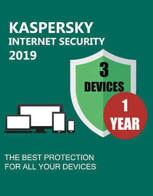 Kaspersky Internet Security 2019 3 Devices Pc 1 Year Genuine Code &official Link