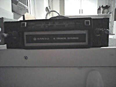 Lovely Vintage SANYO Stereo 8 Track Player, Japan Quality Retro, Car Cassette