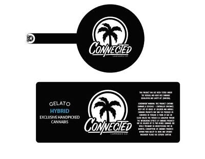 Connected ANY STRAIN Cali Tin/Jar Label 60ml (LEAVE STRAIN IN NOTES)