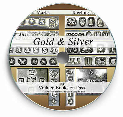 Rare Antique Silver Gold Hallmark Books on DVD Goldsmith Guides Jewelry Assay B8