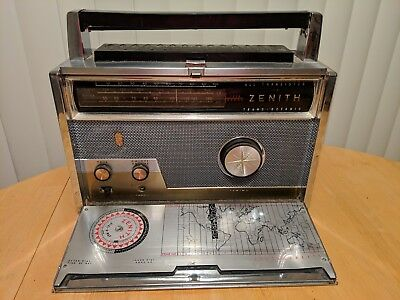 *works! Vintage Zenith Royal 1000-D  Transistor Trans-Oceanic Multi Band Radio*