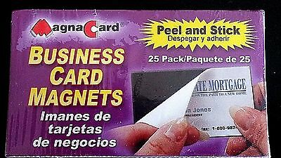 MAGNA CARD Self-adhesive Peel-and-Stick Business Card Magnets - 25ct