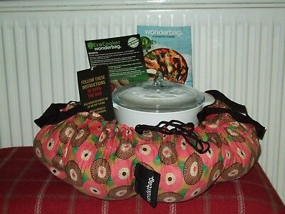 Wonderbag Non-Electric Portable Slow Cooker with Recipe Cookbook Red