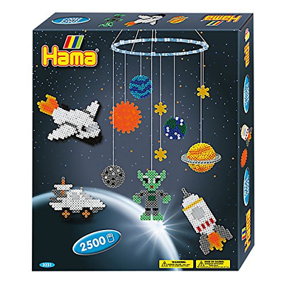 HAMA BEADS SPACE Hanging Mobile Kit Solar System Creative Craft Science  Activity