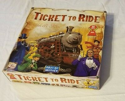 Ticket To Ride Board USA Game 2007 Alan R. Moon Days of Wonder EUC Complete