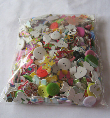 Bulk lot of buttons 340gms craft supplies kids including novelty assorted