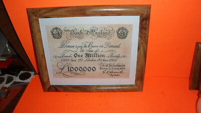 One Million Pound Bank  Note  From The Film Starring Gregory Peck