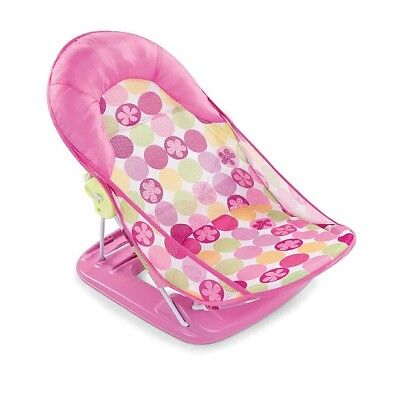 Summer Infant Deluxe Baby bath support Bather, daisy pink