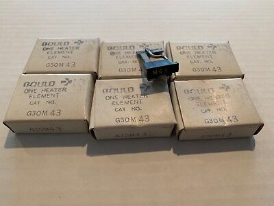 Lot Of 6 New! Gould Overload Relay Thermal Heater Elements G30M43