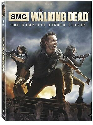 The Walking Dead: The Complete Eighth Season 8 DVD, 2018 5 Disc Set w Slipcover