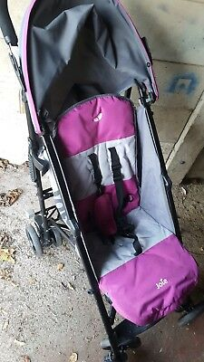 JOIE Charcoal & PINK NITRO STROLLER BUGGY PUSHCHAIR Raincover footmuff freepost