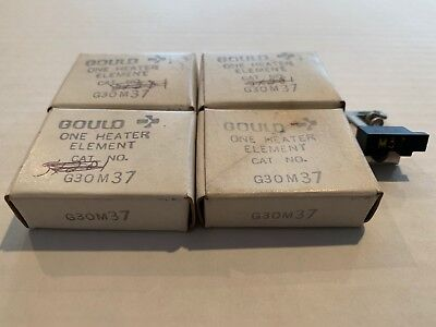 Lot Of 4 New! Gould Overload Relay Thermal Heater Elements G30M37