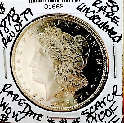 1878 Rev 79 Wow Uncirculated! Super Rare Pl! Ultra Proof Like! Wow!$$ Nr # 1668